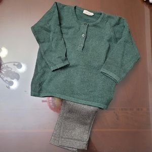 Beautiful Ketiketa Green wool sweater